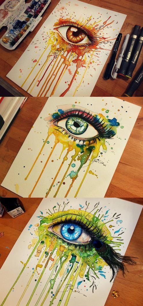 Drawn eyeball pretty eye Jödicke Svenja Eye on paintings