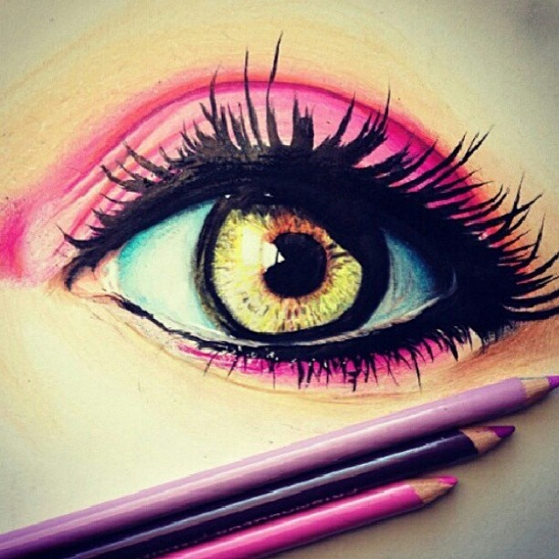 Drawn eyeball pretty eye Colored Drawings on prismacolor best