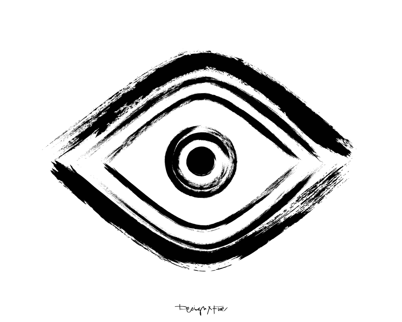 Drawn eyeball printable  Printable Art Hand Eye