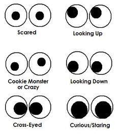 Drawn eyeball printable Best Googly ideas Owl Pinterest