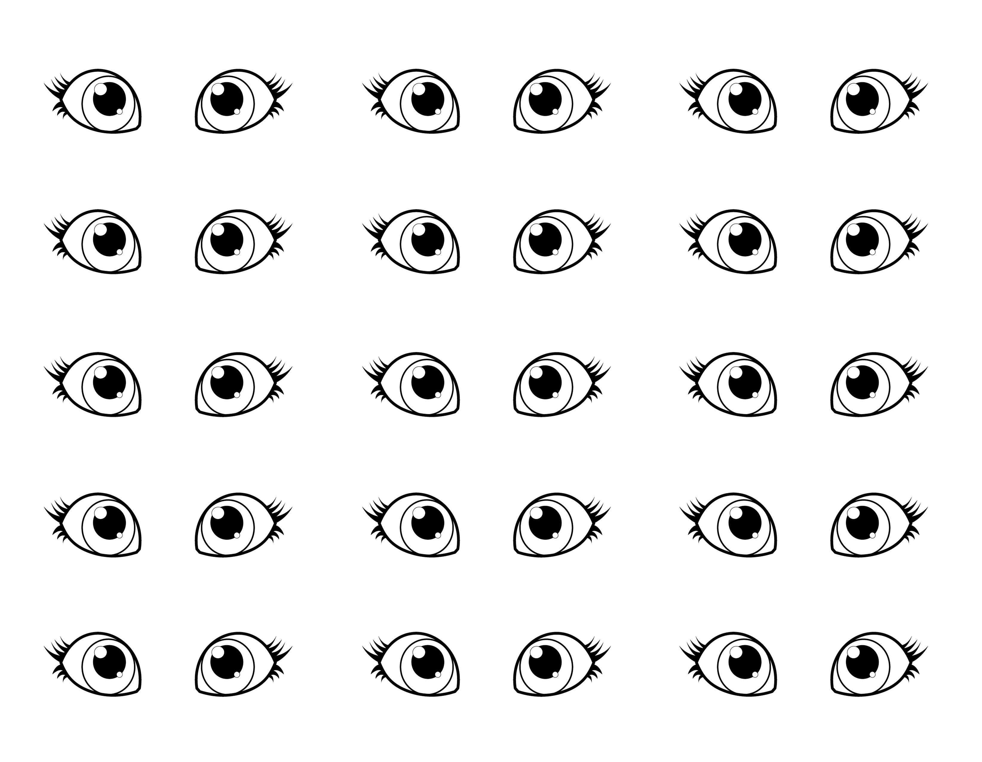 Drawn eyeball printable Eyeball 50 com Eyeball Ideas