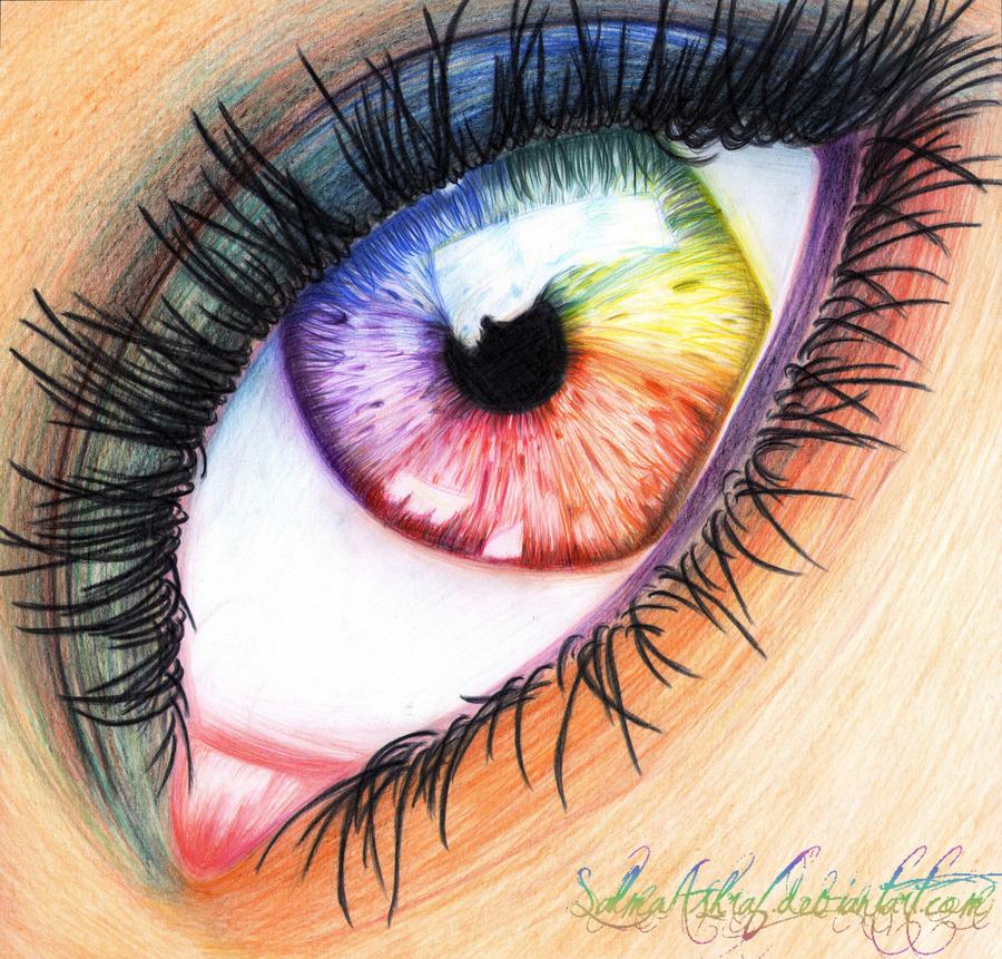 Drawn rainbow colour ~SalmaAshraf ~SalmaAshraf :: Eye Traditional