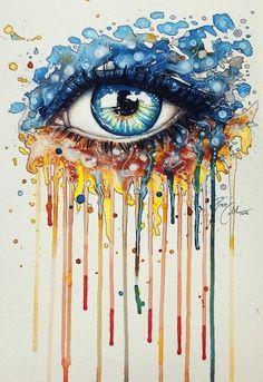 Drawn rainbow painted Eye Drawings and Free stuff