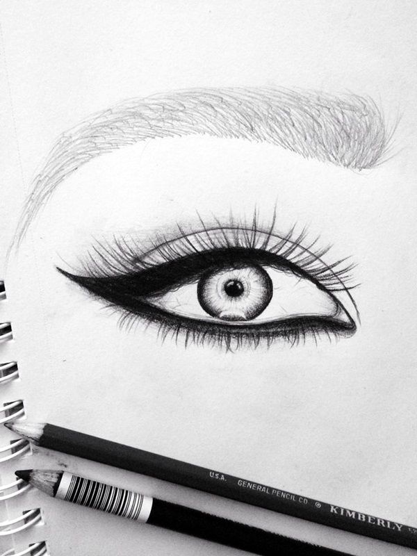 Drawn profile eye Amazing Tutorials 40 And an
