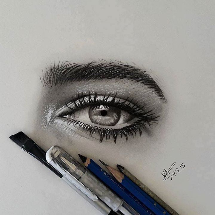 Drawn eyeball real life And Realistic 60 Eyes ideas