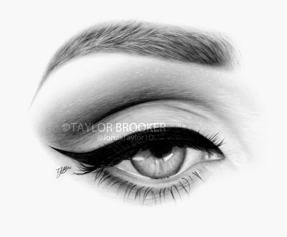 Drawn eye closed Important tips realistic eyes To