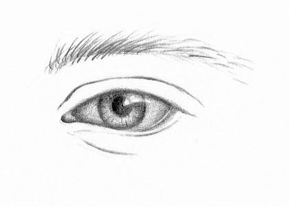 Drawn portrait beginner Teach Faces of Eye Yourself