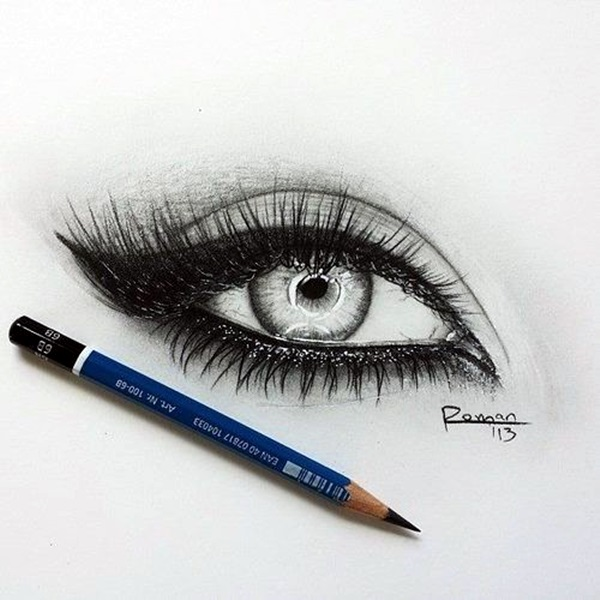 Drawn profile eye 40 Amazing EYE Tutorials