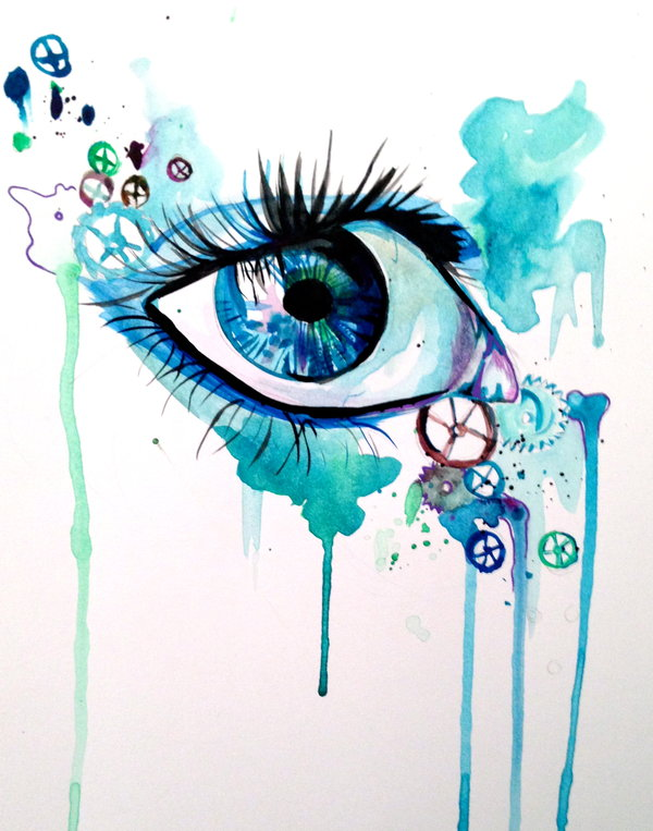 Drawn eyeball steampunk DeviantArt Eye PixieCold Lucky978 by