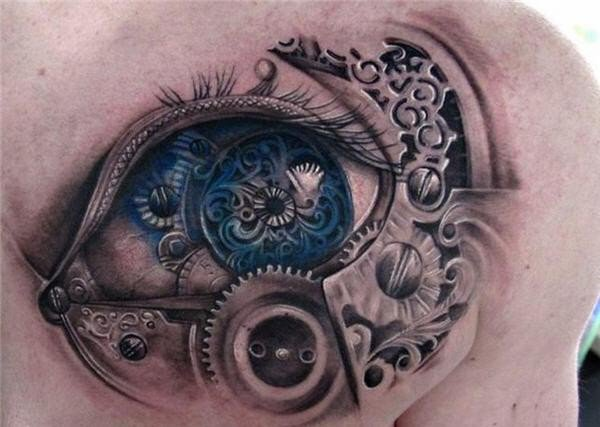Drawn eyeball steampunk Tattoo design Awesome Steampunk Awesome
