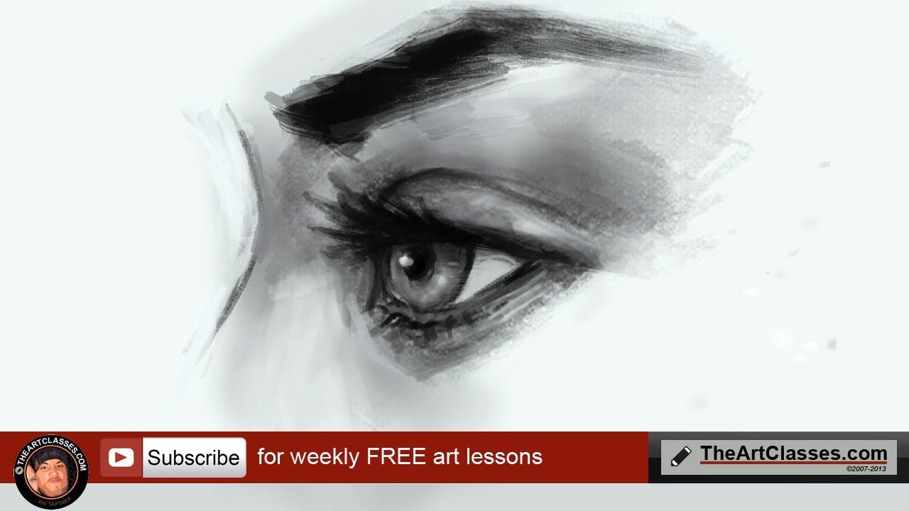 Drawn profile closed eye Learn VIEW EYE draw