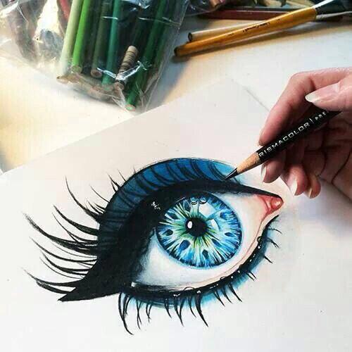 Drawn eyeball world's good #15