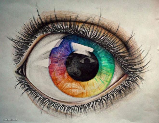 Drawn eyeball world's good #5