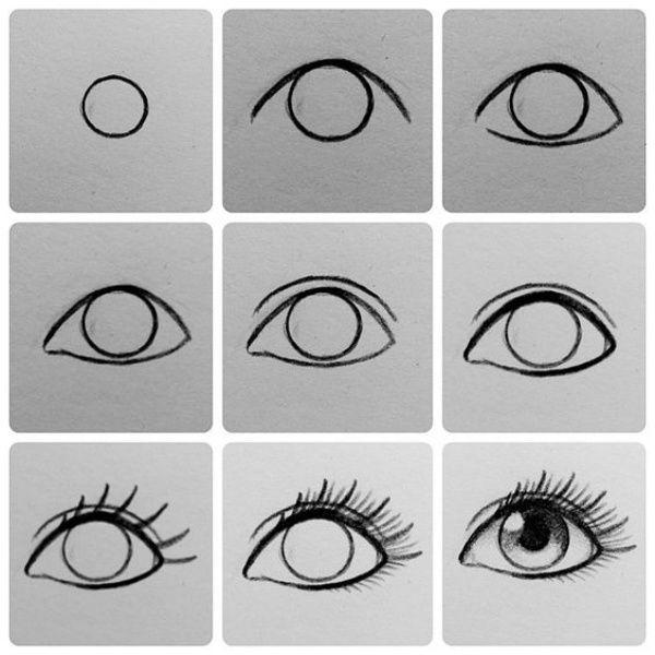 Drawn eyeball world's good #9