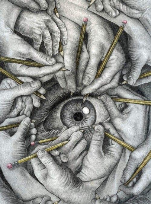 Drawn eyeball world's good #4