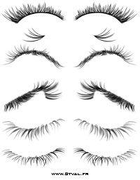 Drawn eyelash Brushes and drawing tutorial on