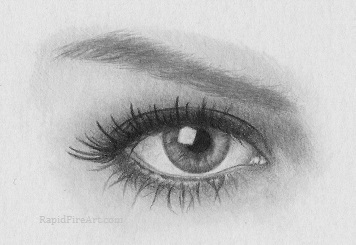 Drawn eyelash 8: Draw eye Eyebrows Step