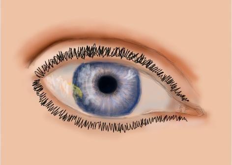 Drawn eyelash 3 Eyelashes draw portrait Step