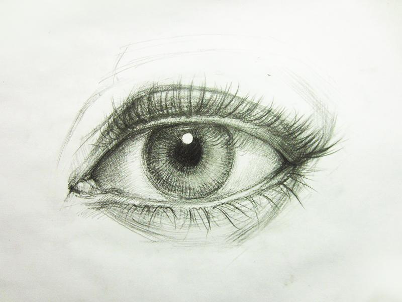 Drawn eyelash Add shadow make the of