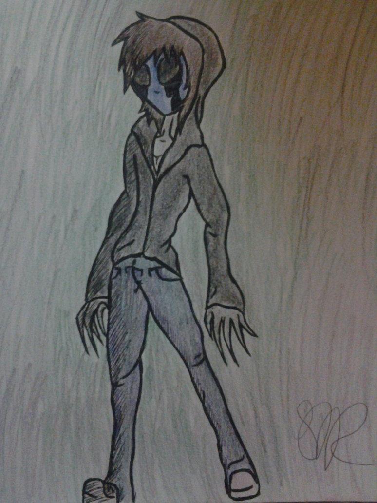 Drawn eyeless jack Jack drawing by Eyeless easy