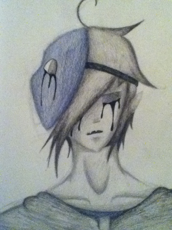 Drawn eyeless jack By ProxyChild Sad Jack on