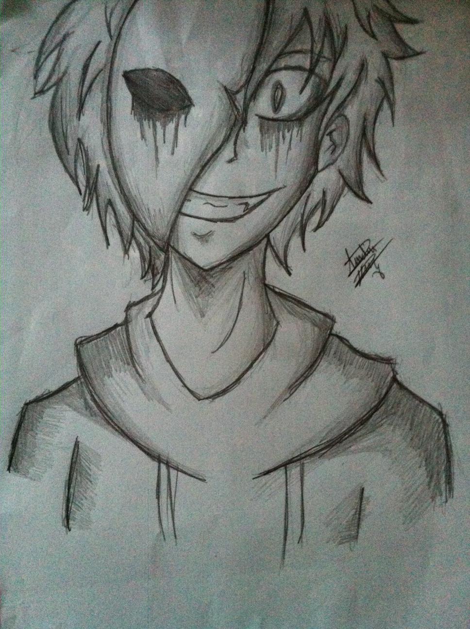 Drawn eyeless jack Pinterest  Google Creepypasta Eyeless