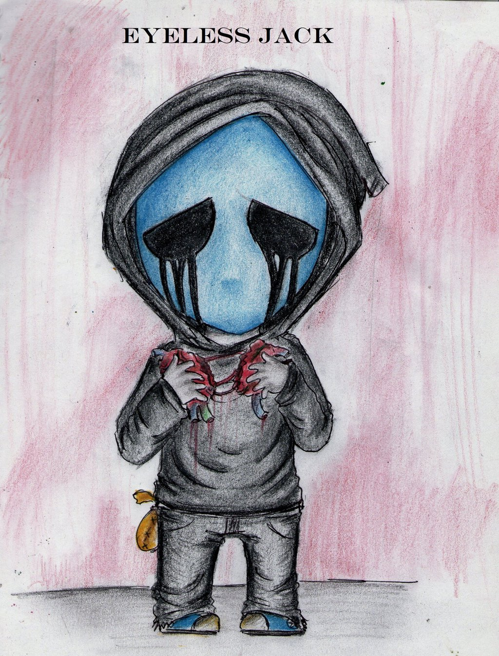 Drawn eyeless jack chibi ClaudiaVianney the Jeff by and