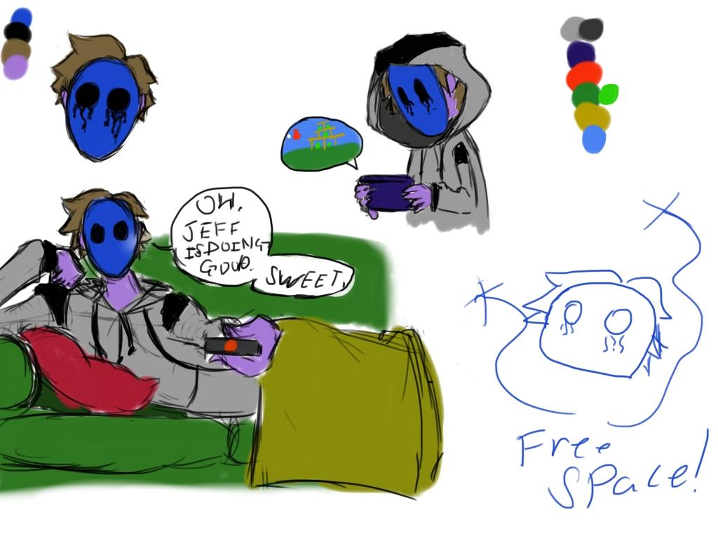 Drawn eyeless jack cute Majorfreakingcupcake Drawing by Jack by