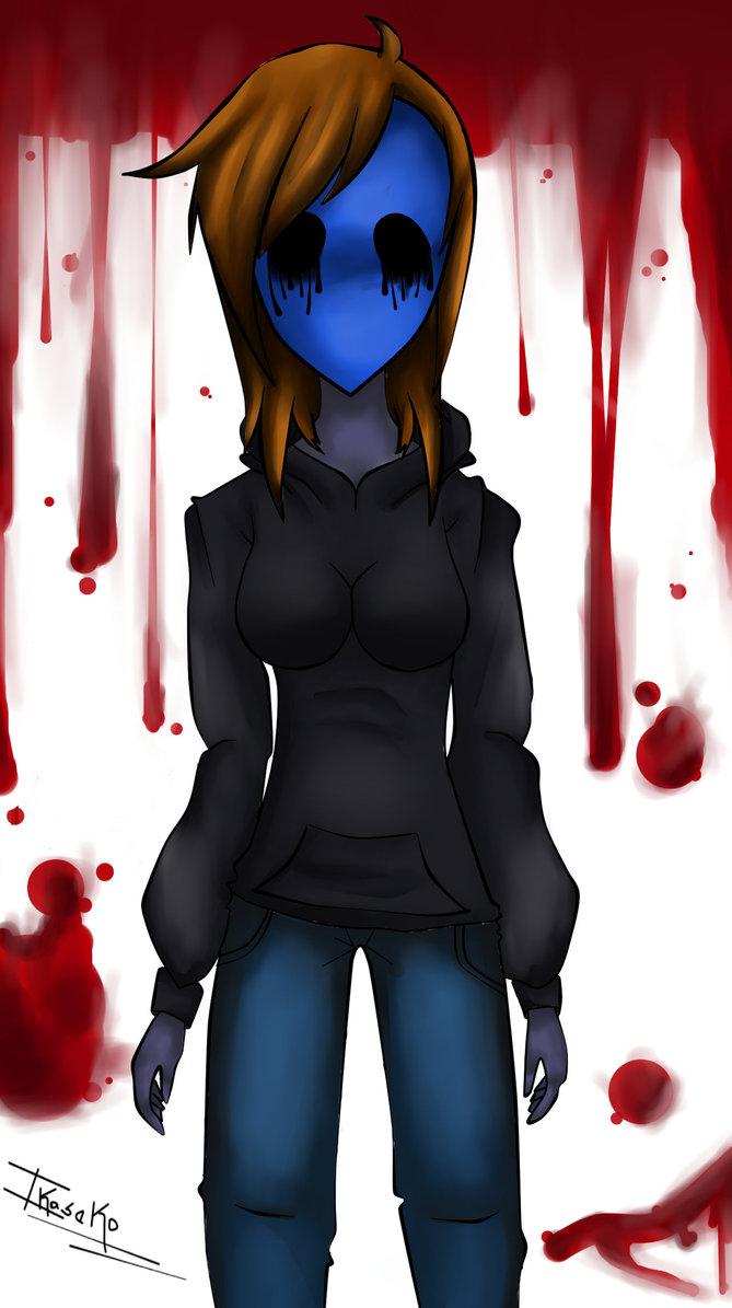 Drawn eyeless jack female Version girl E E Creepypasta