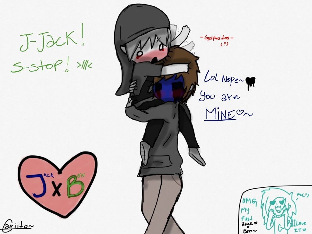 Drawn eyeless jack hot Creepy x ben  Google