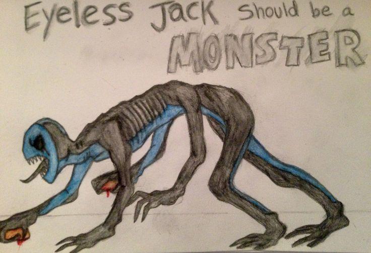 Drawn eyeless jack human TheInsane7 Monster Monster on TheInsane7