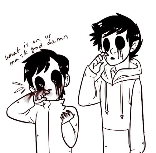 Drawn eyeless jack human Switching eyeless mask masks jack