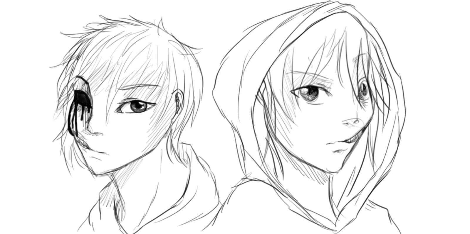 Drawn eyeless jack human By Killer Killer animecake55 by