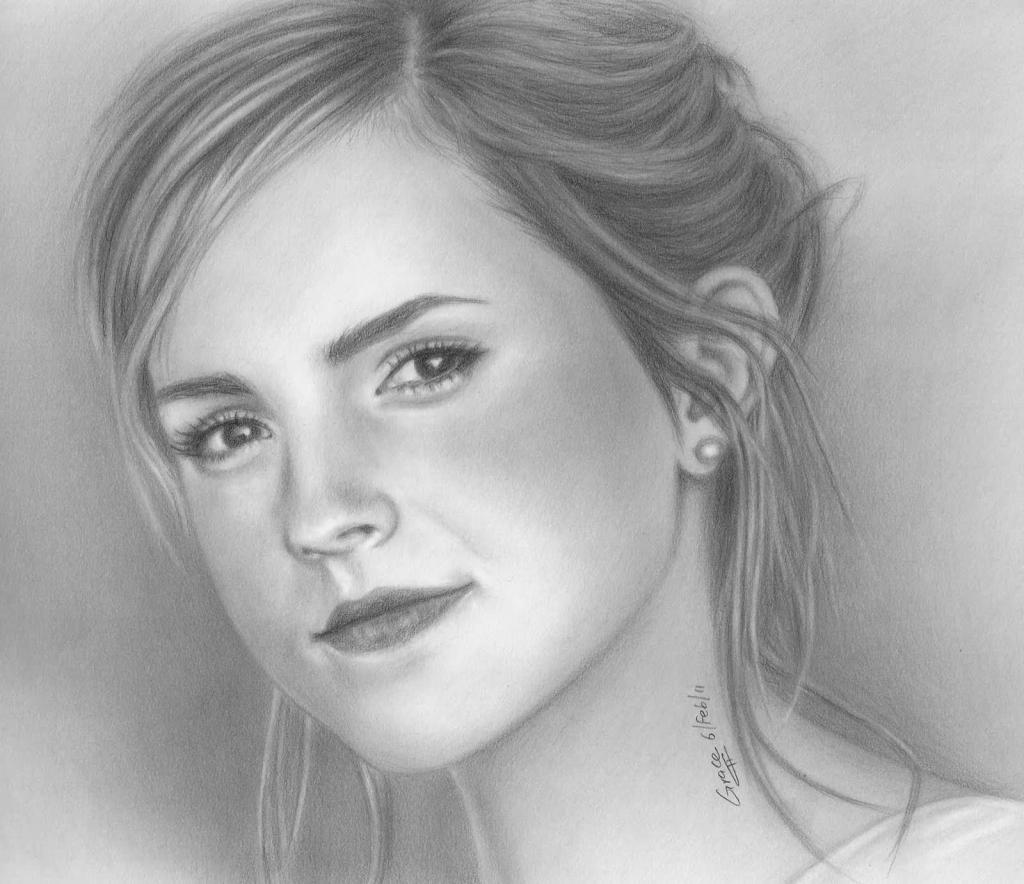Drawn face 1000 Face Sketches Pencil Library