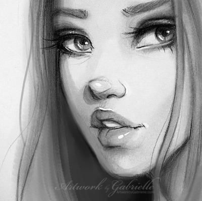 Drawn face Like like /// the Artwork