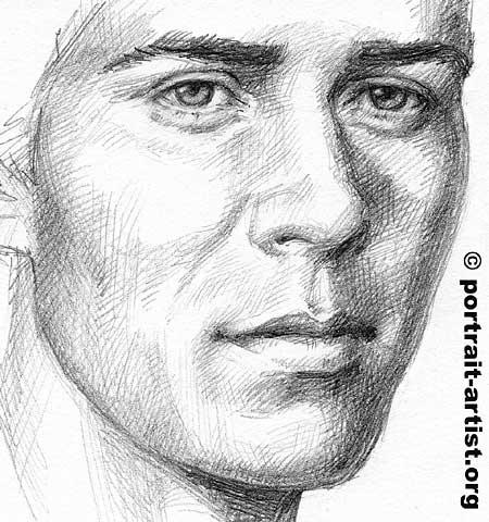 Drawn portrait male face Art How Portrait Male portrait