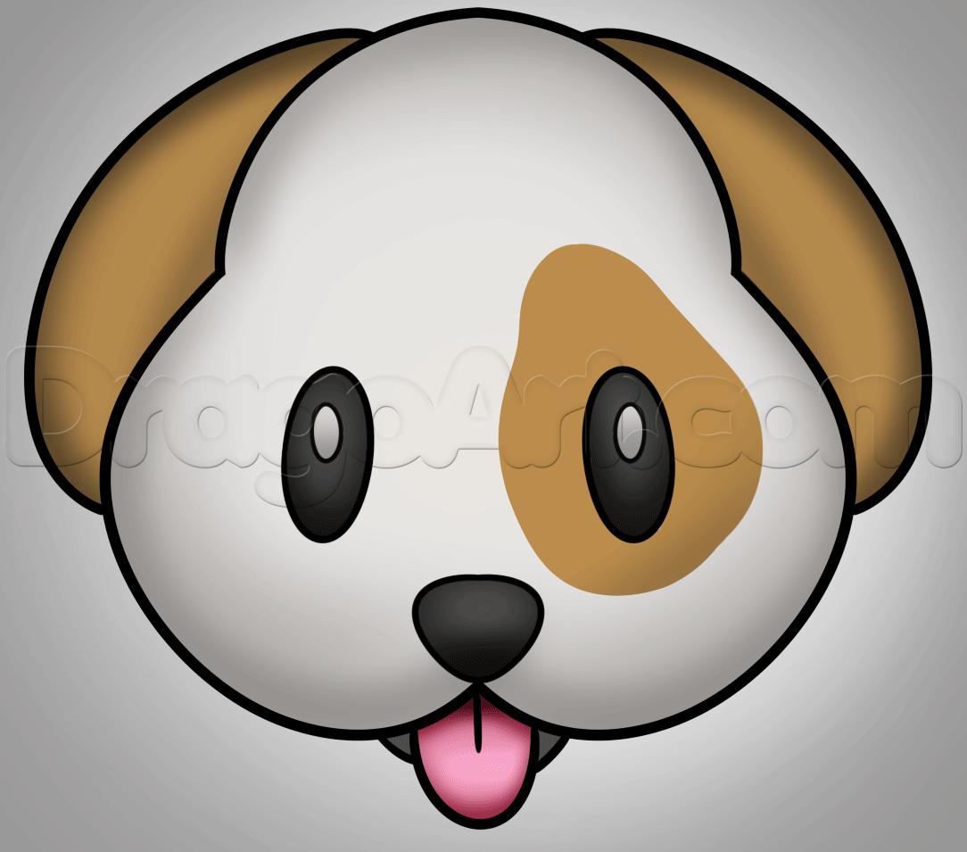 Drawn pug emoji  Step draw Step dog
