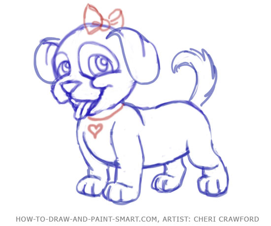 Drawn puppy small A How Draw Pinterest puppy