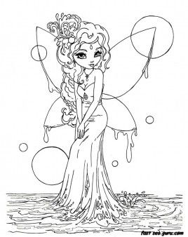 Drawn fairy coloring page Pinterest Coloring » to Colouring
