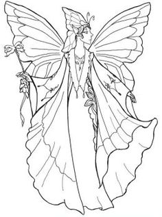 Drawn fairy coloring page  2017 Coloring Pages Odd