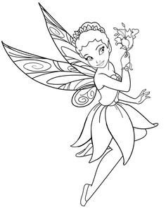 Drawn fairy coloring page Visit Fairy Iridessa Characters