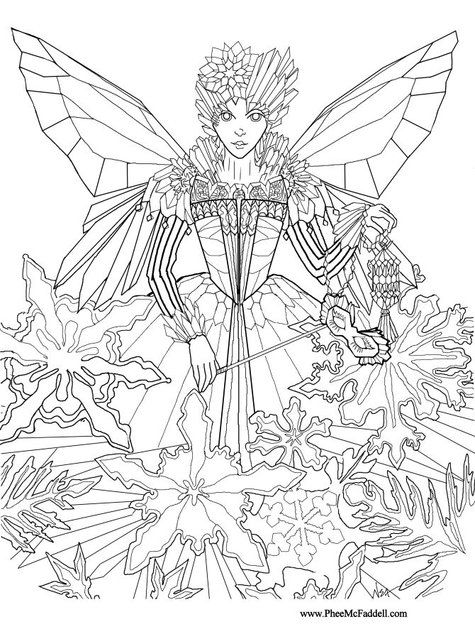 Drawn fairy coloring page Pinterest Fairy Princess Adults pages