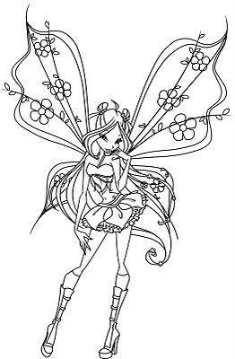 Drawn fairy coloring page Find pages more on Coloring
