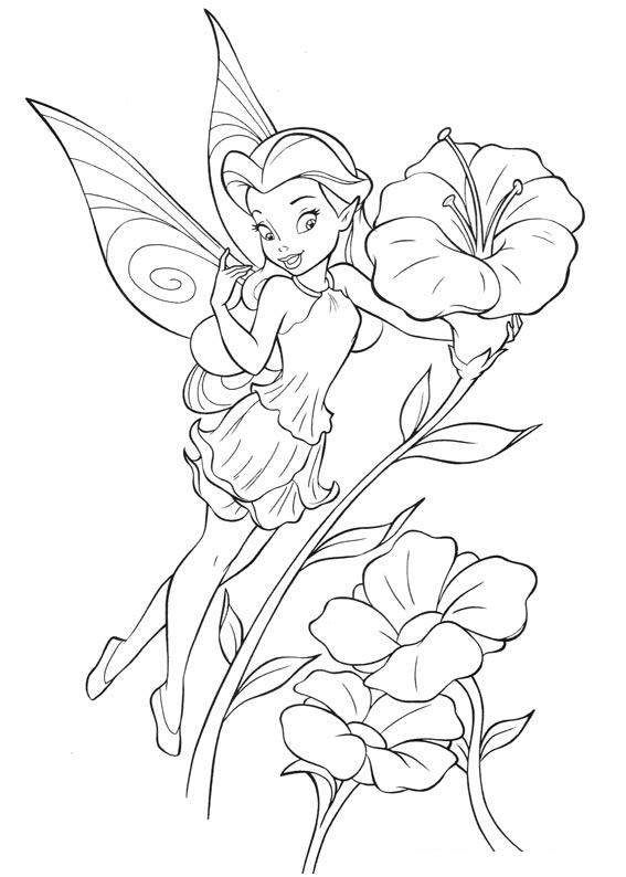 Drawn fairy coloring page Fairy 81 Adults Pinterest pages