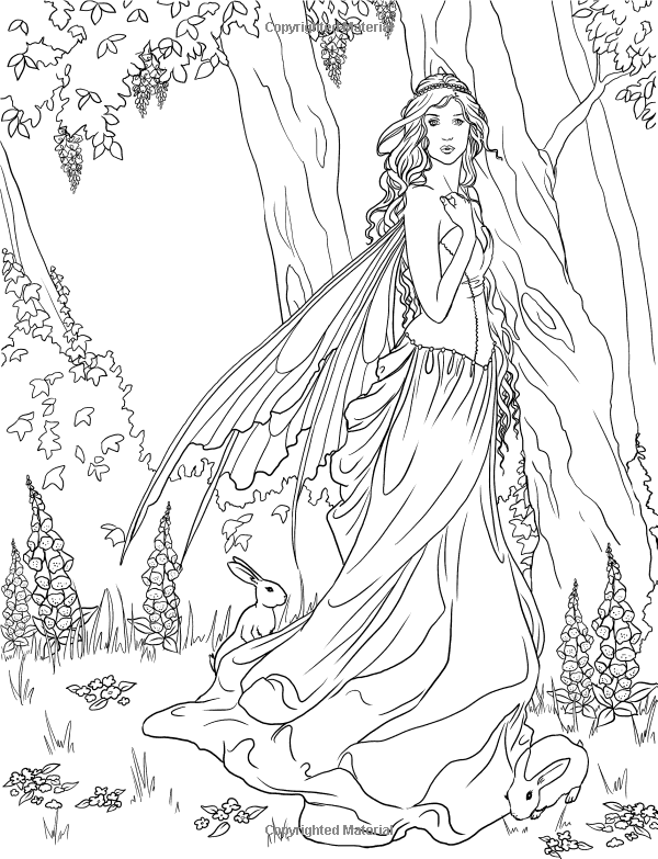 Drawn fairy coloring page Fairy Fairy source: amazon page
