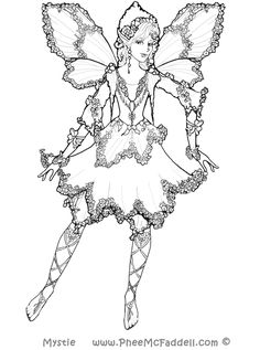 Drawn fairy coloring page And use Mystie fairy