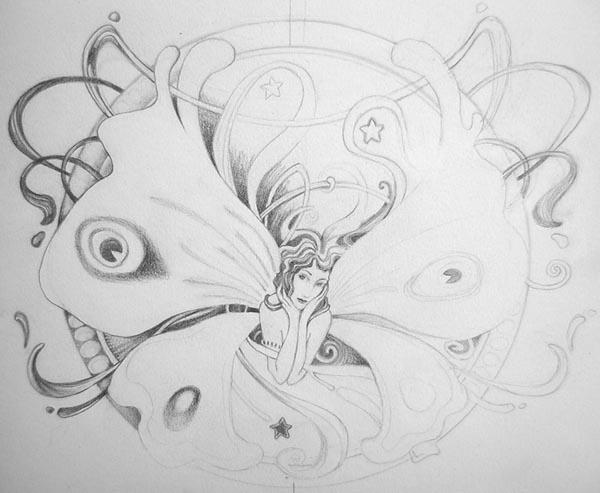 Drawn fairy hand drawn By Drawn Drawn Image Yahoo