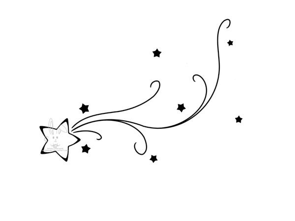 Drawn falling stars #1