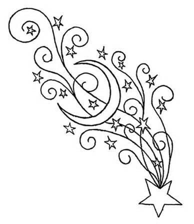 Drawn falling stars #11