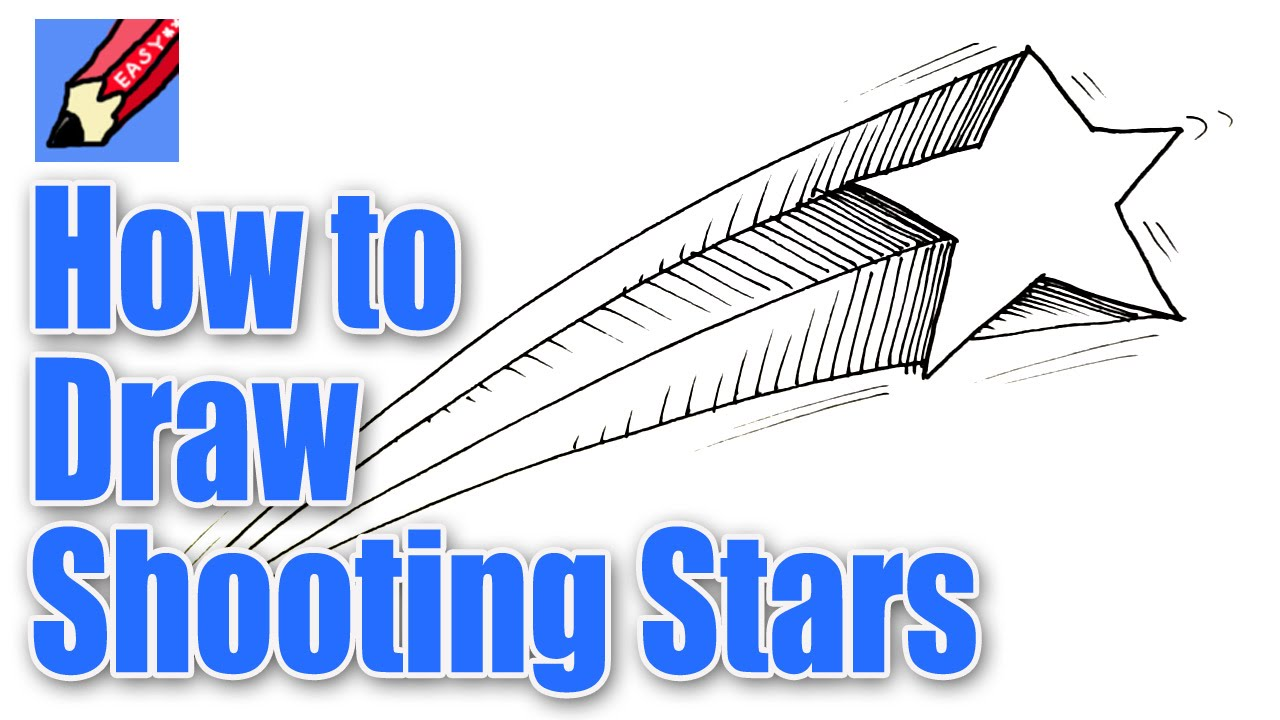 Drawn falling stars Shooting draw Stars YouTube How